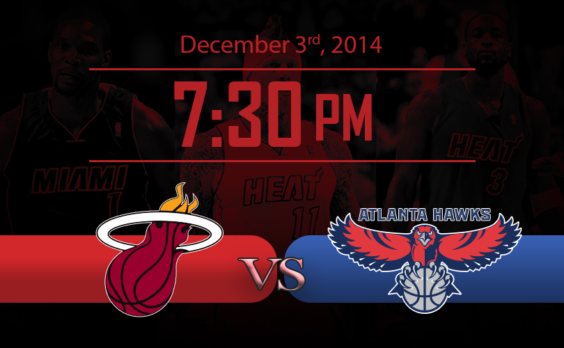 Heat vs Hawks 12-03-14