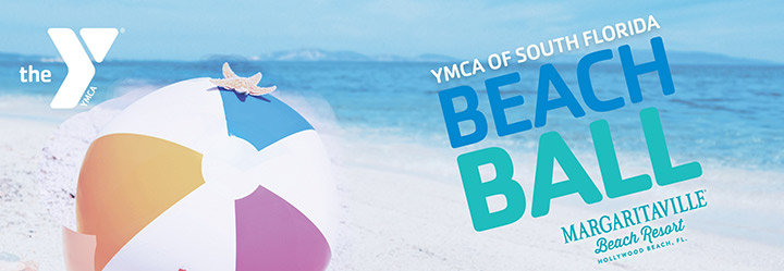 YMCA Beach Ball celebrating aquatics