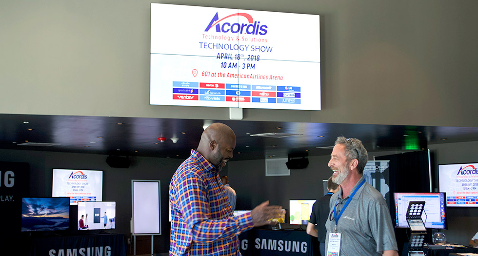 Acordis Technology & Solutions Hosting Technology Show at 601, the AmericanAirlines Arena