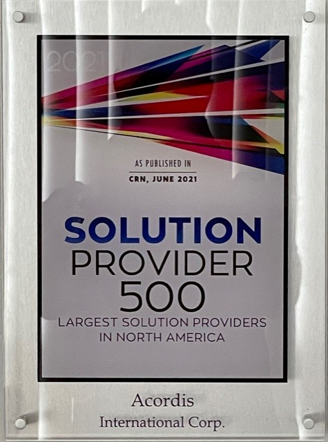 Acordis does it again! CRN 2021 Solution Provider 500